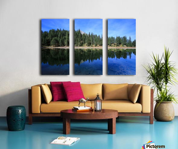 Lake Reflection Split Canvas print