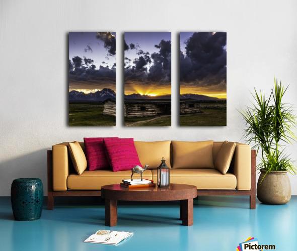 Pioneer Cabin sunset Grand Tetons Split Canvas print
