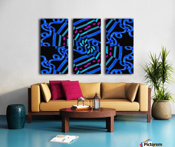 Modern Ornate Abstract Artwork Split Canvas print