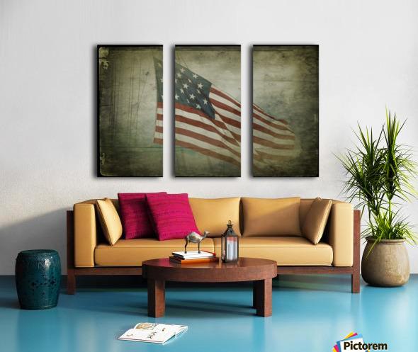 Fifteen Star Flag Split Canvas print