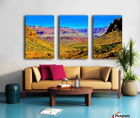 Grand Canyon  Bright Angel Trail 15 Split Canvas print