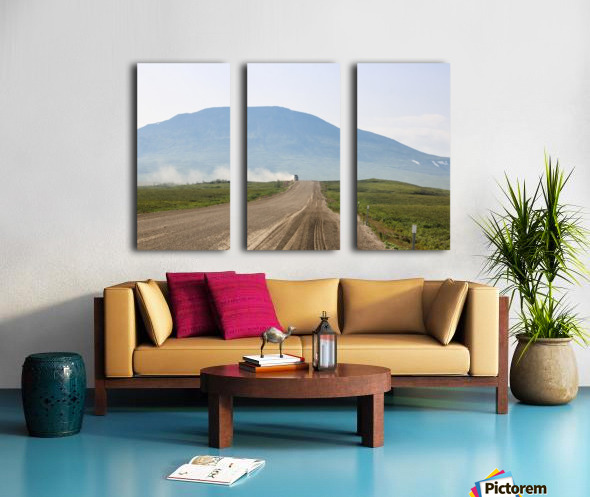 Truck on the Dempster Split Canvas print