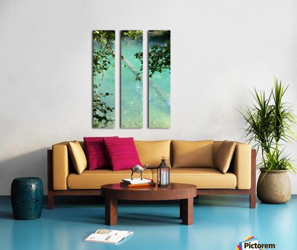 Au fil de leau Split Canvas print