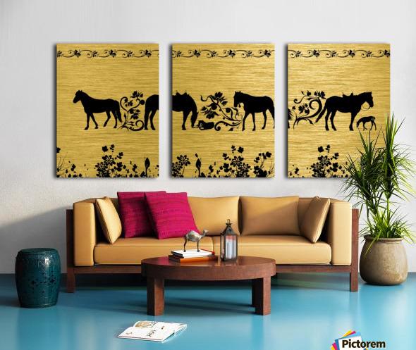 Gold illustration for interior decoration 2 Split Canvas print
