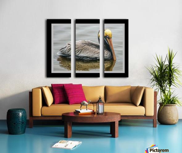 Brown Pelican II - HDR Split Canvas print