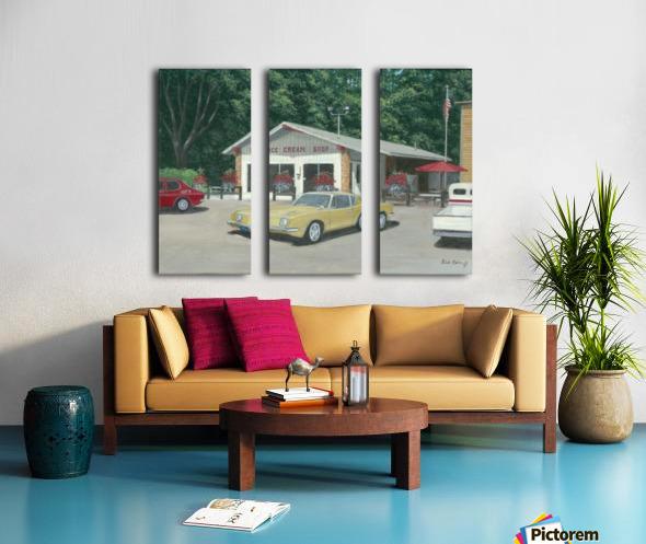 The Ice Cream Shop - Newtown Scenes  12 x 16  Split Canvas print