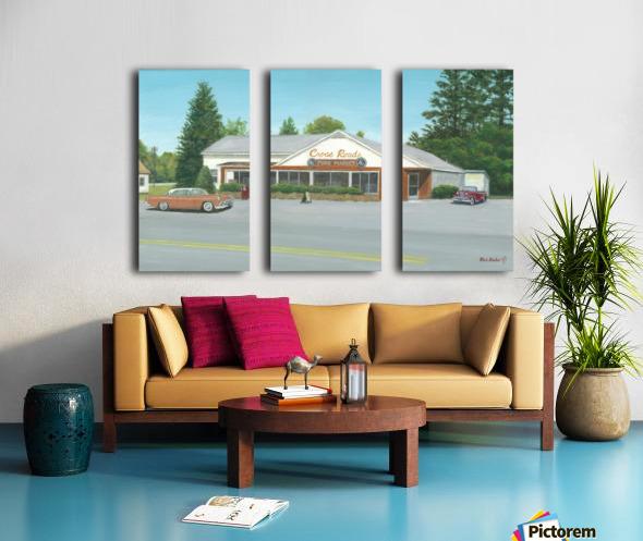 Cross Roads Store- Newtown Scenes 12 X 20  Split Canvas print