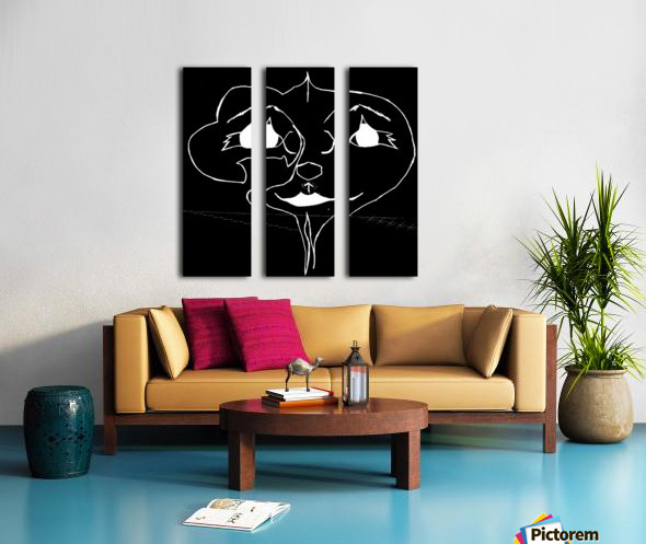 I Will Smile -Black Split Canvas print