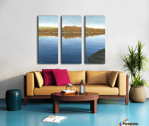 Rowboat on Taunton Lake - Newtown Scenes 16X20 Split Canvas print