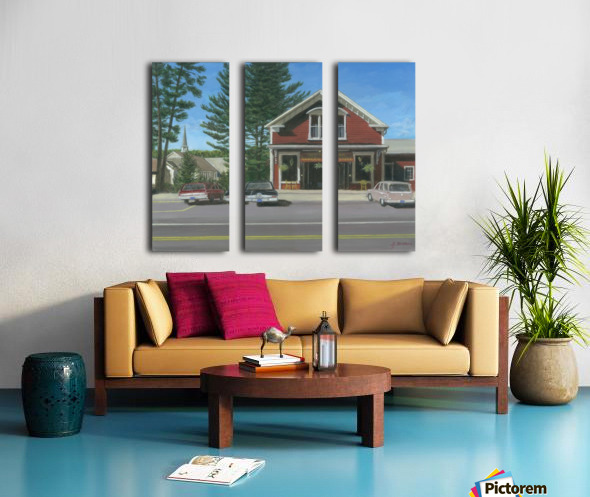 Church House and Store - Newtown Scenes 16X20 Split Canvas print
