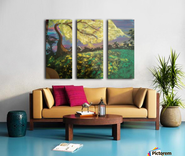 Golden Dreams Split Canvas print