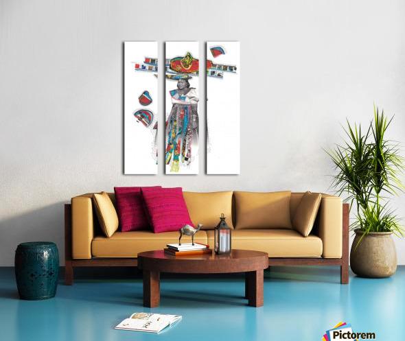 Herero Woman 7 Split Canvas print