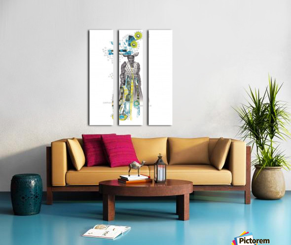 Herero woman 2 Split Canvas print