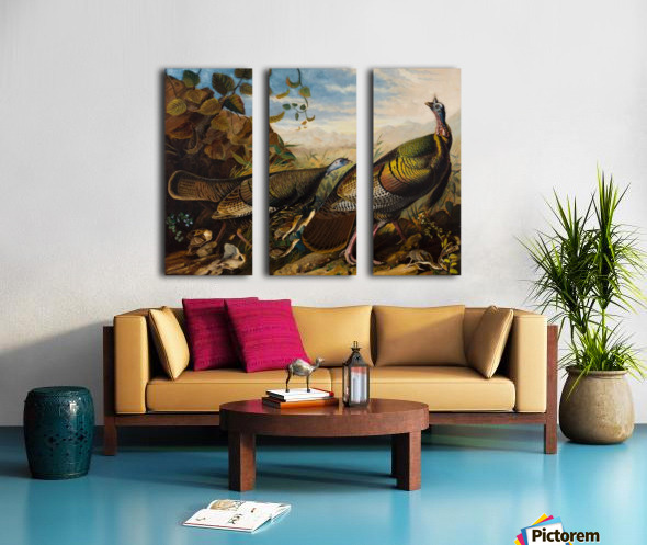 Wild Turkeys Split Canvas print