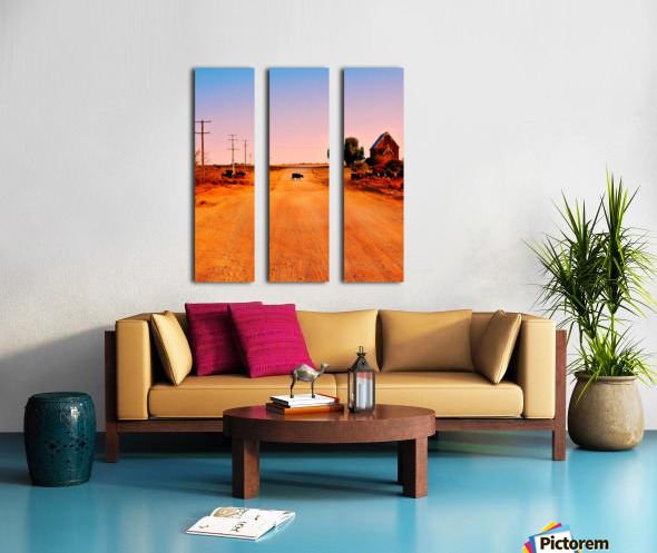 Quirky Sights of the Outback 1 Split Canvas print