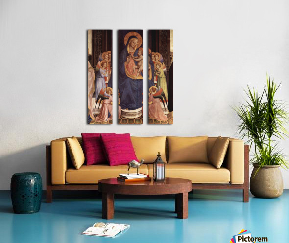 Convent of San Domenico, Fiesole palace Split Canvas print