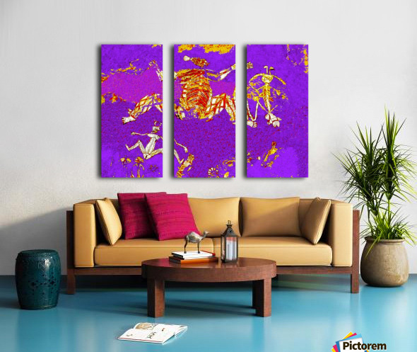 Pop Art - Rock Art 5 Split Canvas print