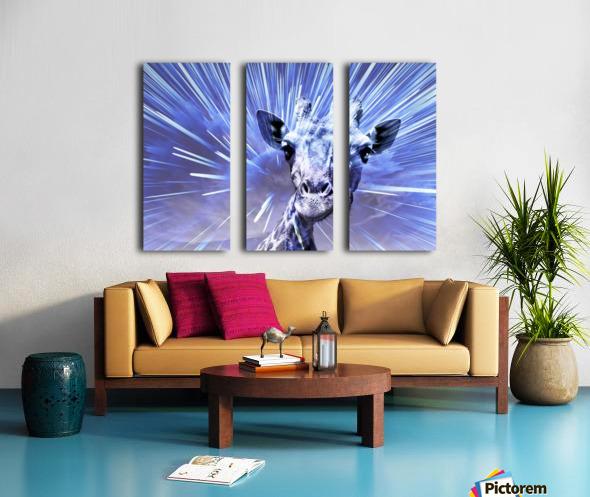 Giraffe pop 2   Split Canvas print