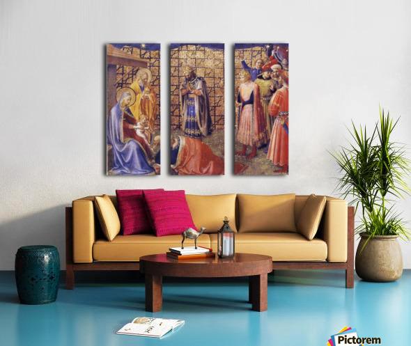 Adoration of the Magi Split Canvas print