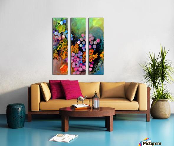 The Grapes Split Canvas print