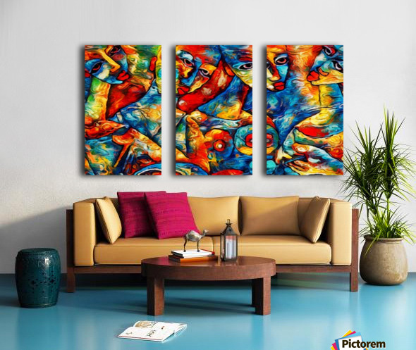 Caribbean Womens  Split Canvas print