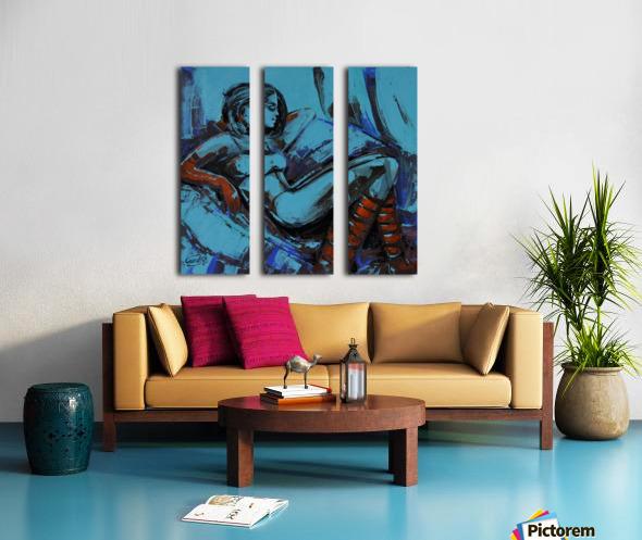 The light behind her window -7 -18x18 Split Canvas print
