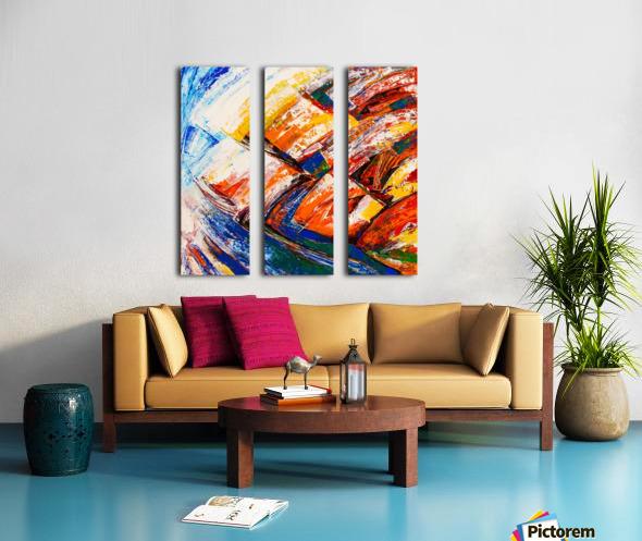 FLOW OF DREAMS_7 - 18x18 Split Canvas print