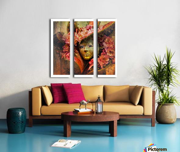 Venetian Mask Split Canvas print