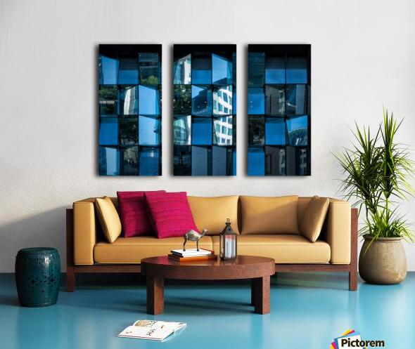 Blue Mirrors Split Canvas print