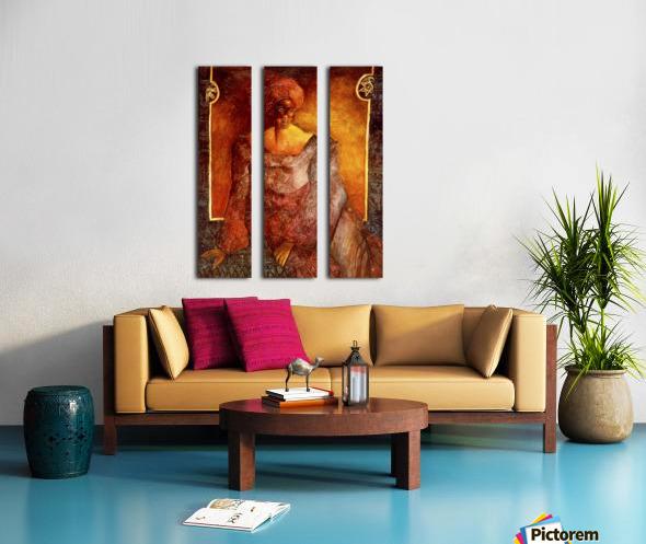 Femme Africaine Split Canvas print
