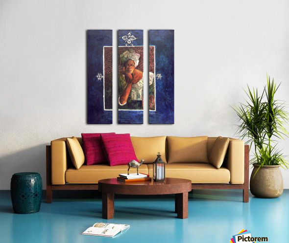 Femme au turban Split Canvas print