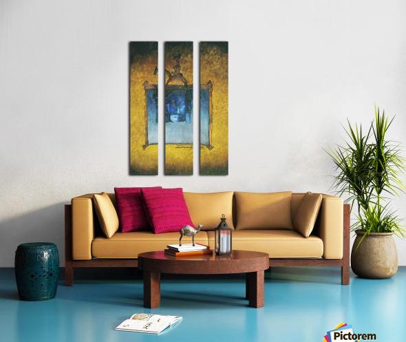 The night horserider Split Canvas print