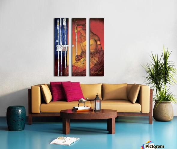 Massai Split Canvas print