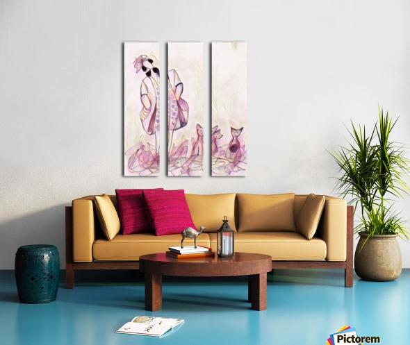 La ricaneuse et ses chat Split Canvas print