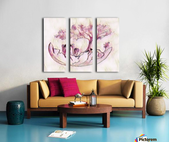 Cocon déléphants Split Canvas print