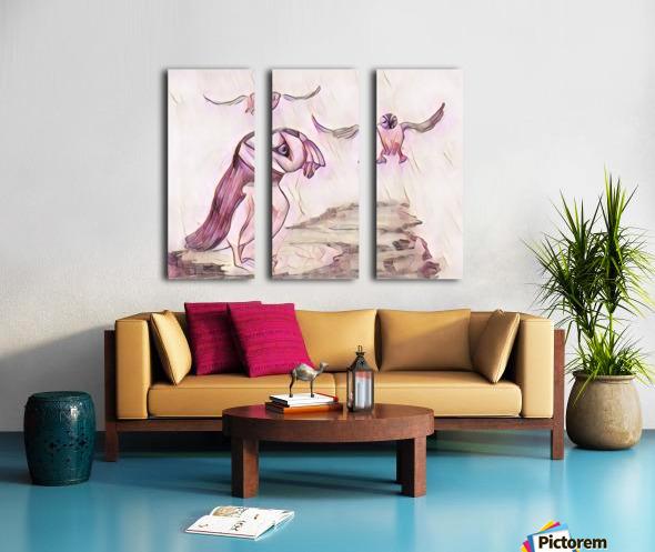 Les macareux  Split Canvas print