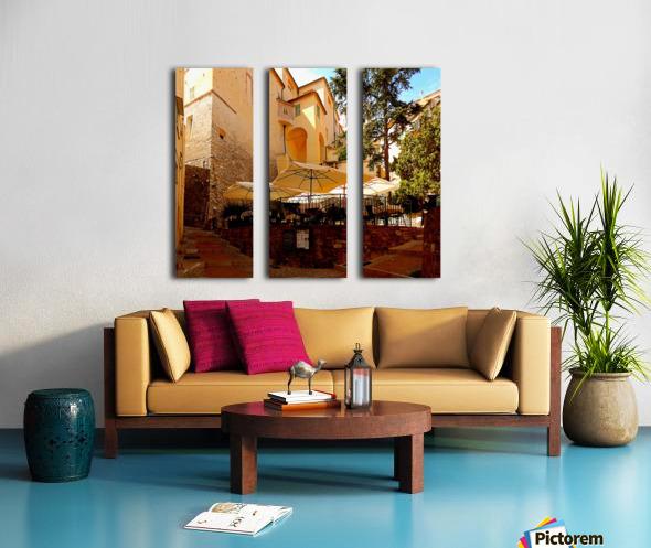 French Village Bistro Split Canvas print