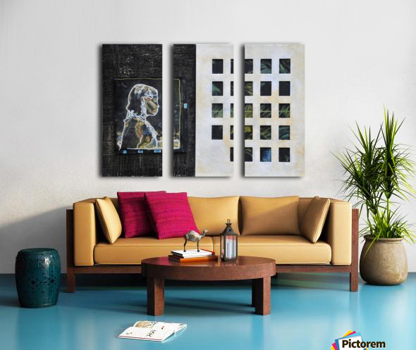 Wired life Split Canvas print