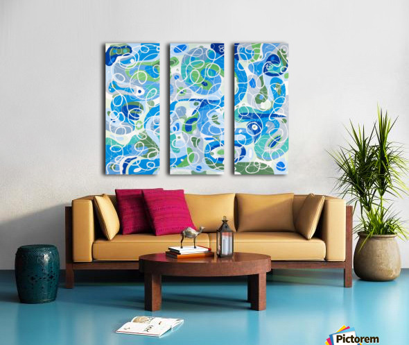 Heaven and Earth Split Canvas print