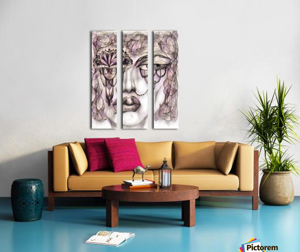 Attitude 29 Split Canvas print