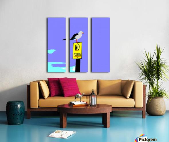 NO Fishing - Blue Split Canvas print