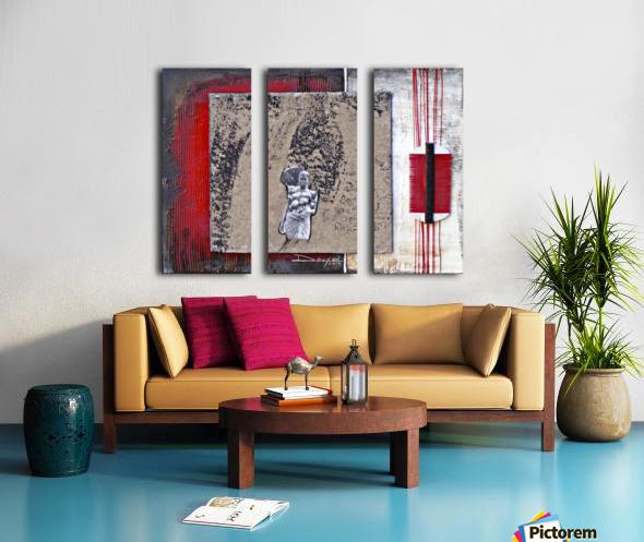 Komb 2 Split Canvas print