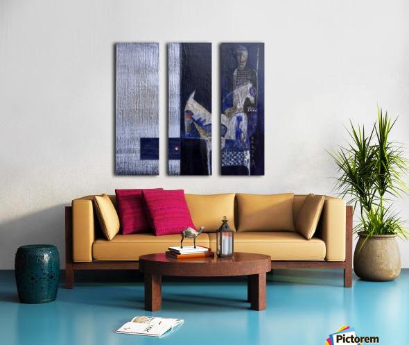 Blue Horserider 1 Split Canvas print
