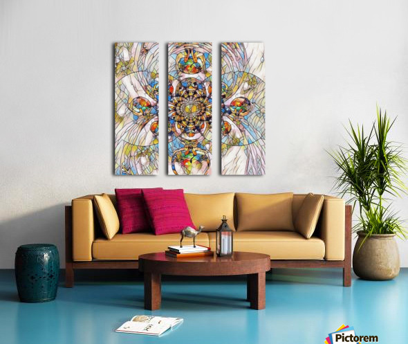Mosaic Fractal Split Canvas print