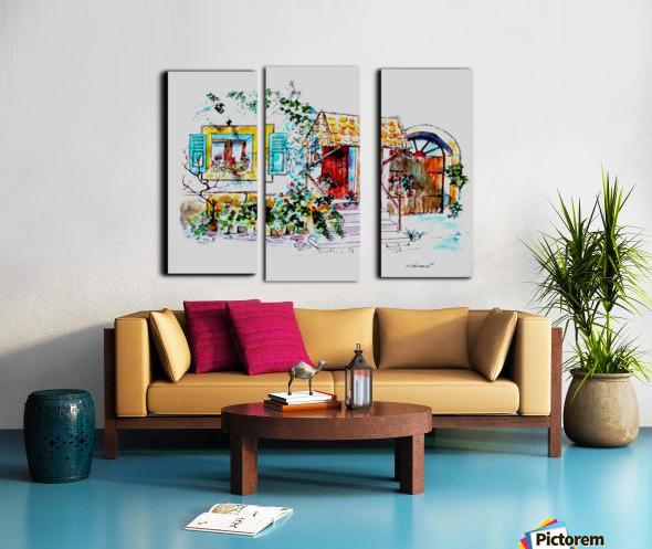 My House Split Canvas print