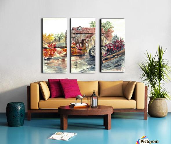 Farm House Split Canvas print