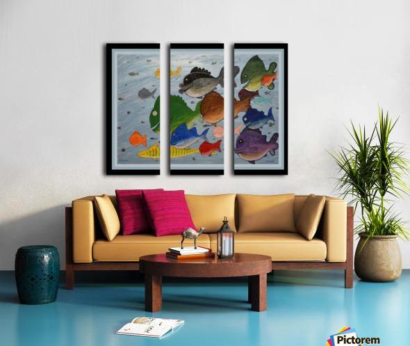 NEVER SEA - ACRYLIC PAINTING Split Canvas print