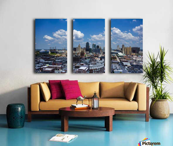 Kansas City Skyline 1 Split Canvas print