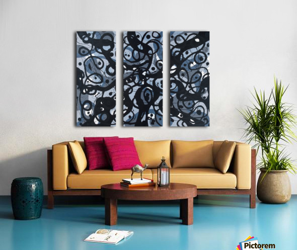 Quiet Emptiness Split Canvas print