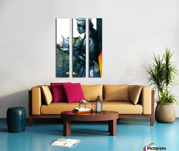 La marchande Split Canvas print